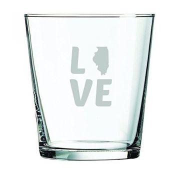 13 oz Cocktail Glass - Illinois Love - Illinois Love
