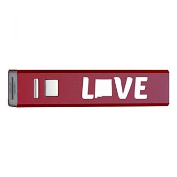 New Mexico-State Outline-Love-Portable 2600 mAh Cell Phone Charger-