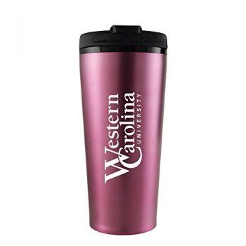 Western Carolina University -16 oz. Travel Mug Tumbler-Pink