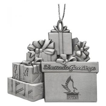 University of Hartford - Pewter Gift Package Ornament