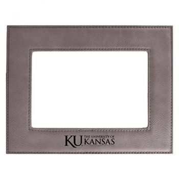 The University of Kansas-Velour Picture Frame 4x6-Grey