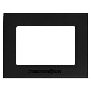 Northwestern State University-Velour Picture Frame 4x6-Black