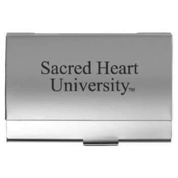 Sacred Heart University - Two-Tone Business Card Holder - Silver