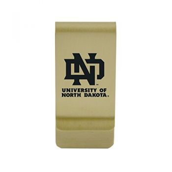 North Carolina State University|Money Clip with Contemporary Metals Finish|Solid Brass|High Tension Clip to Securely Hold Cash, Cards and ID's|Silver