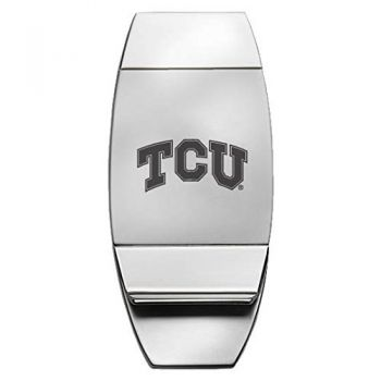 Texas Christian University - Two-Toned Money Clip - Silver