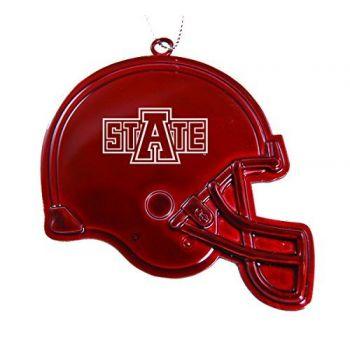 Arkansas State University - Christmas Holiday Football Helmet Ornament - Red
