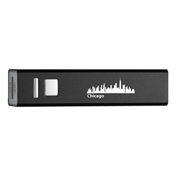Quick Charge Portable Power Bank 2600 mAh - Chicago City Skyline