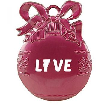 Montana-State Outline-Love-Christmas Tree Ornament-Pink