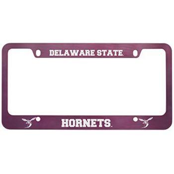 Delaware State University -Metal License Plate Frame-Pink
