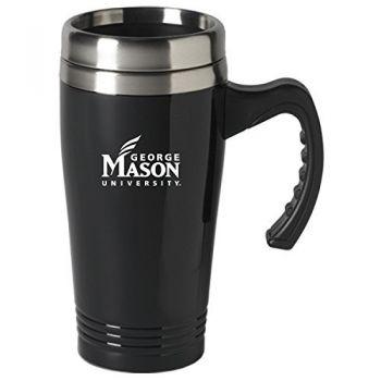 George Mason University-16 oz. Stainless Steel Mug-Black