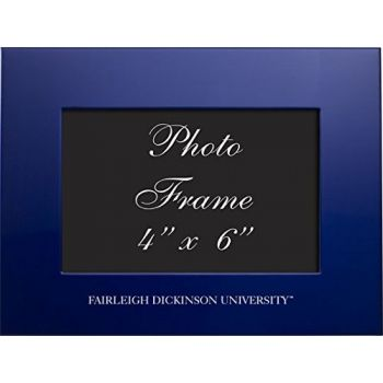 Fairleigh Dickinson University - 4x6 Brushed Metal Picture Frame - Blue