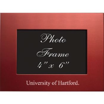 University of Hartford - 4x6 Brushed Metal Picture Frame - Red