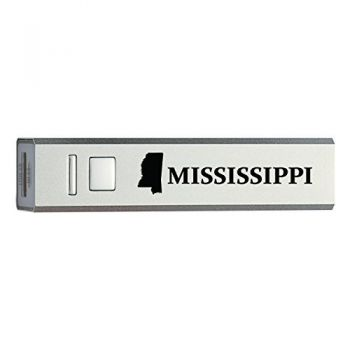 Mississippi-State Outline-Portable 2600 mAh Cell Phone Charger-