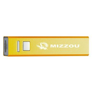 University of Missouri - Portable Cell Phone 2600 mAh Power Bank Charger - Gold