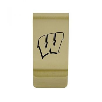 University of Wisconsin-Milwaukee|Money Clip with Contemporary Metals Finish|Solid Brass|High Tension Clip to Securely Hold Cash, Cards and ID's|Silver