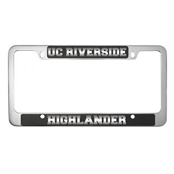 University of California, Riverside-Metal License Plate Frame-Black