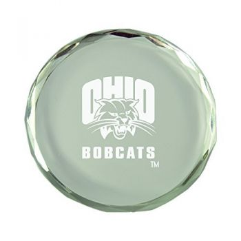 Ohio University-Crystal Paper Weight