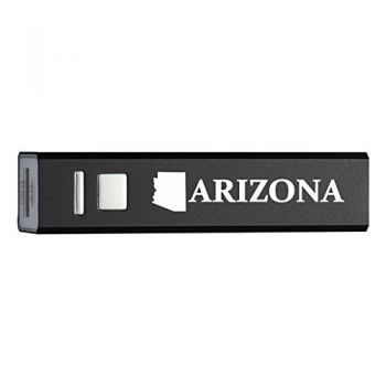 Arizona-State Outline-Portable 2600 mAh Cell Phone Charger-