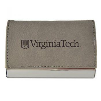 Velour Business Cardholder-Virginia Tech-Grey