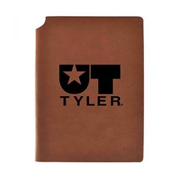University of Texas at Tyler Velour Journal with Pen Holder|Carbon Etched|Officially Licensed Collegiate Journal|