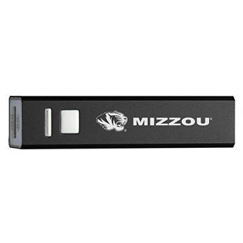 University of Missouri - Portable Cell Phone 2600 mAh Power Bank Charger - Black