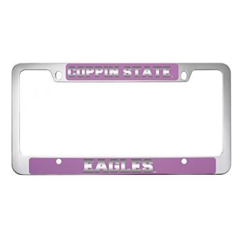 Coppin State University -Metal License Plate Frame-Pink