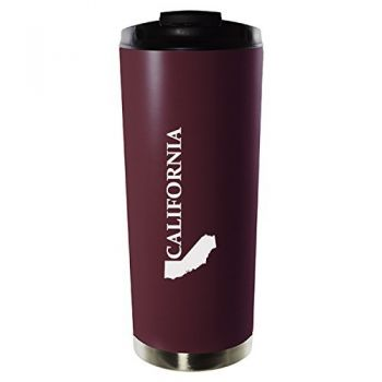 16 oz Vacuum Insulated Tumbler with Lid - California State Outline - California State Outline
