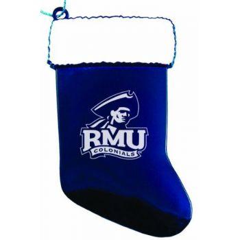 Robert Morris University - Christmas Holiday Stocking Ornament - Blue