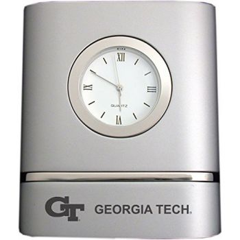 Georgia Institute of Technology- Two-Toned Desk Clock -Silver