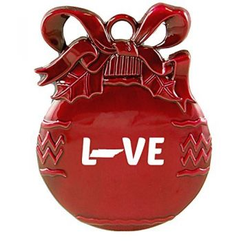 Tennessee-State Outline-Love-Christmas Tree Ornament-Red
