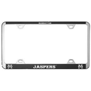 Manhattan College-Metal License Plate Frame-Black