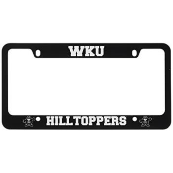 Western Kentucky University -Metal License Plate Frame-Black