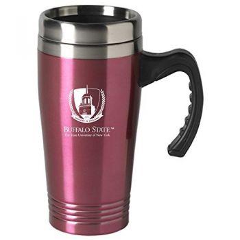Buffalo State University-The State University of New York-16 oz. Stainless Steel Mug-Pink