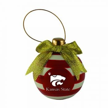 Kansas State University -Christmas Bulb Ornament