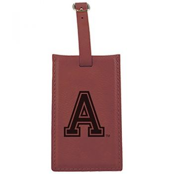 United States Military Academy -Leatherette Luggage Tag-Burgundy