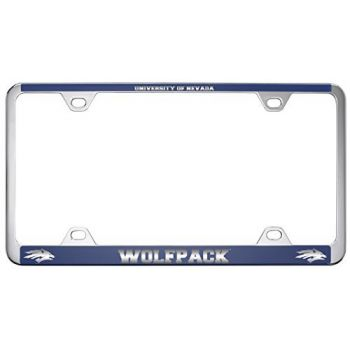 University of Nevada -Metal License Plate Frame-Blue
