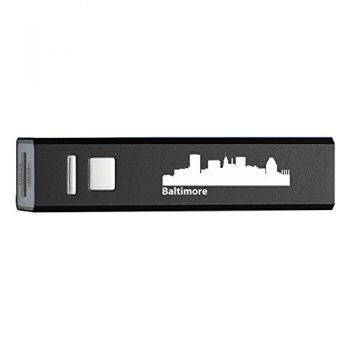 Quick Charge Portable Power Bank 2600 mAh - Baltimore City Skyline