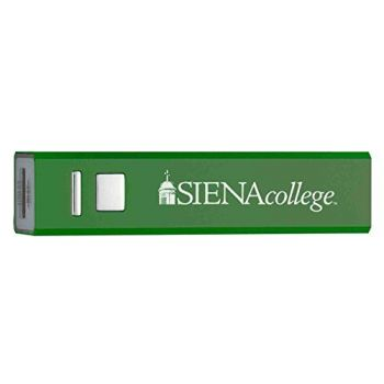 Siena College - Portable Cell Phone 2600 mAh Power Bank Charger - Green