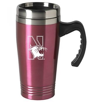 Northwestern University-16 oz. Stainless Steel Mug-Pink