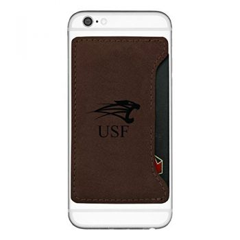University of Saint Francis-Fort Wayne-Cell Phone Card Holder-Brown
