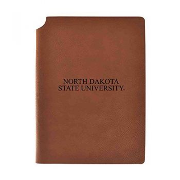 North Dakota State University Velour Journal with Pen Holder|Carbon Etched|Officially Licensed Collegiate Journal|