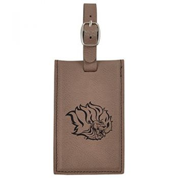 University of Arkansas at Pine Buff -Leatherette Luggage Tag-Brown