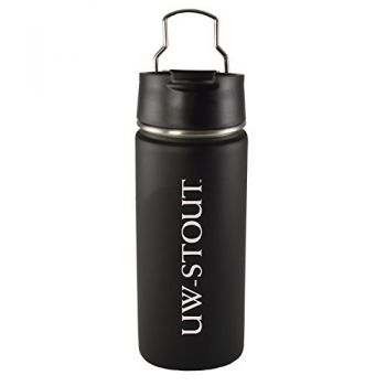 University of Wisconsin-Stout-20 oz. Travel Tumbler-Black