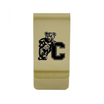 Coppin State University |Money Clip with Contemporary Metals Finish|Solid Brass|High Tension Clip to Securely Hold Cash, Cards and ID's|Silver