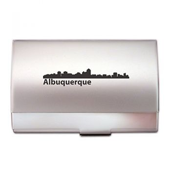 Business Card Holder Case - Albuquerque City Skyline
