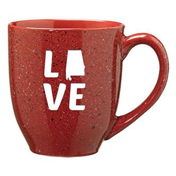 Alabama-State Outline-Love-16 ounce Ceramic Coffee Mug -Cardinal