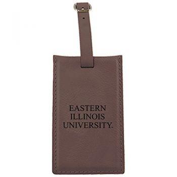 Eastern Illinois University -Leatherette Luggage Tag-Brown