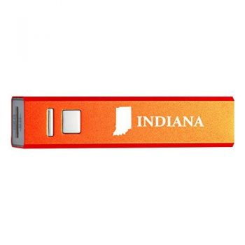 Indiana-State Outline-Portable 2600 mAh Cell Phone Charger-