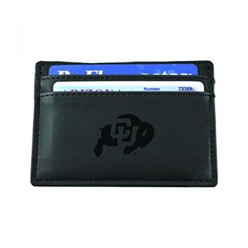 University of Colorado Boulder-European Money Clip Wallet-Black