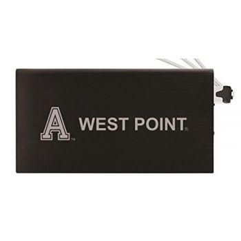 8000 mAh Portable Cell Phone Charger-United States Military Academy -Black